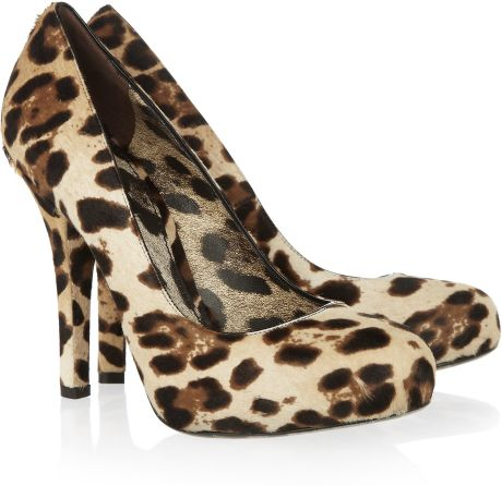 Dolce & Gabbana Leopardprint Calf Hair Pumps in Animal (leopard)