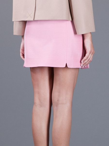 Dsquaredu00b2 Zip Up Mini Skirt in Pink | Lyst
