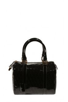 Fendi Ecopatent Leather Forever Zucchino Bowling Bag - Lyst