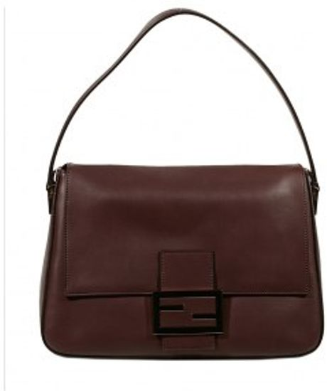 Fendi Leather Forever Big Mammy Bag in Brown (black) - Lyst