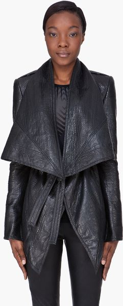 Gareth Pugh Black Snakeskin Jacket in Black - Lyst