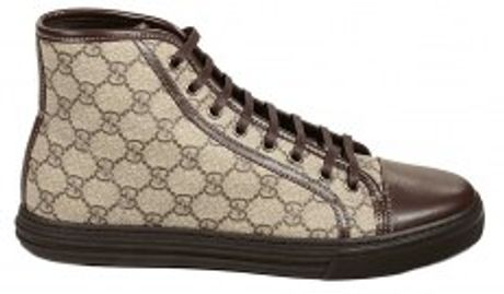 Gucci California Gg Plus Ankle Sneakers Shoes in Beige for Men (marron) - Lyst