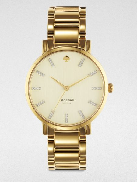 Kate Spade Gramacy Goldtone Stainless Steel Watch in Gold - Lyst