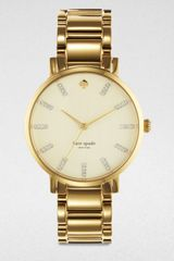 Kate Spade Gramacy Goldtone Stainless Steel Watch - Lyst