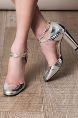Max Mara Rivolo Shoes in Silver - Lyst