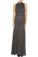 Missoni Metallic Crochetknit Maxi Dress in Gray - Lyst