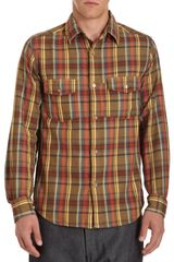 Nigel Cabourn Reversible Plaid Flannel Shirt - Lyst