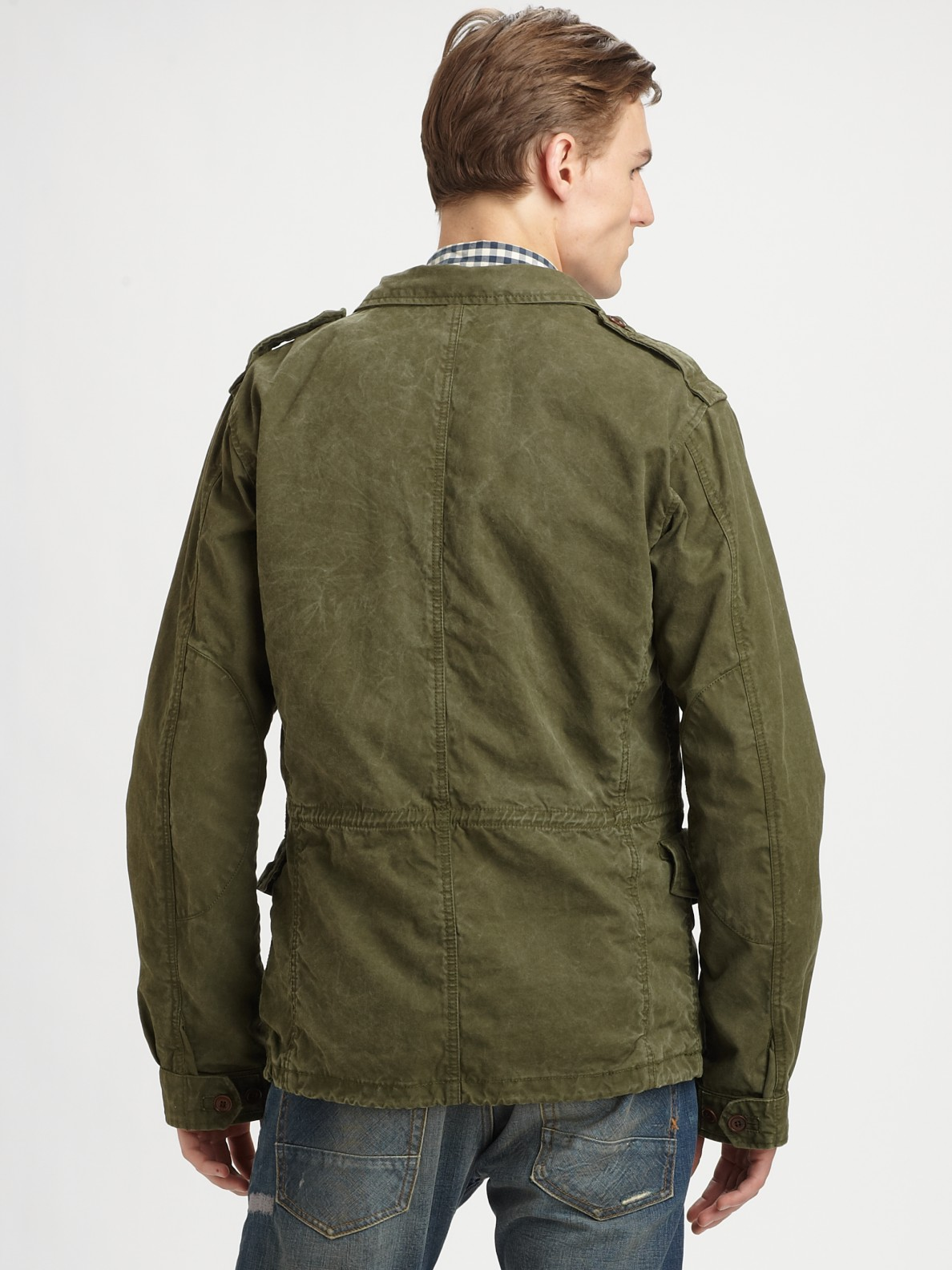 Lyst amp; Scotch Military Soda For Men Green Jacket 0AzqwB0a
