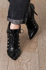 Tabitha Simmons Wicked Studded Laceup Boots in Black - Lyst
