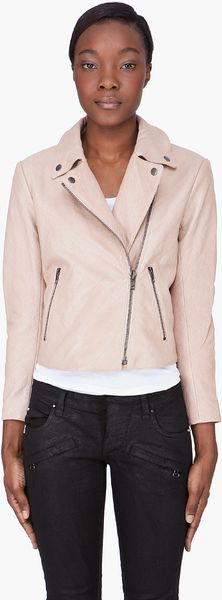 Theory Nude Leather Madigan Juno Jacket - Lyst