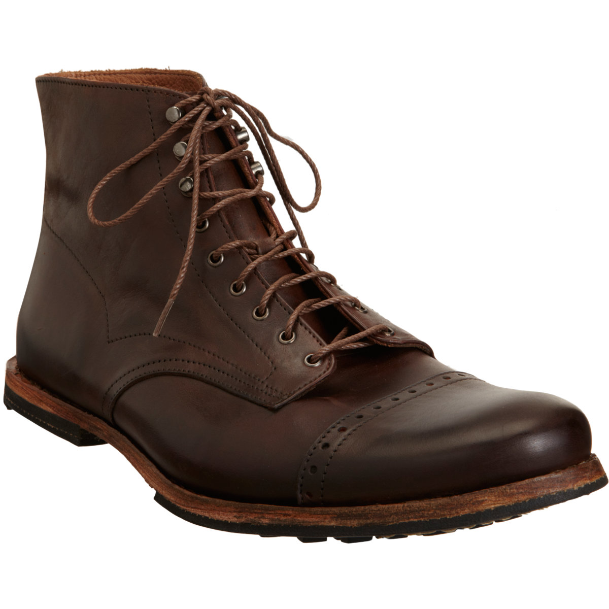 timberland wodehouse cap toe boot in brown for lyst