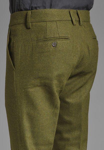 Vanishing Elephant Benedict Classic Suit Pant In Green For