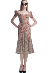 Zac Posen Ss Harlem Rose Print Pouf Sleeve Cocktail Dress in Multicolor (harlem rose print) - Lyst