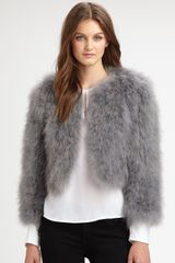 Bcbgmaxazria Margaret Faux Fur Jacket in White - Lyst