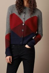 Burberry Brit Merino Wool and Alpaca Cardigan - Lyst