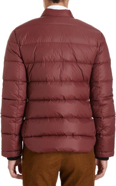 Carven Zip Front Puffer Jacket In Red For Men Burgundy