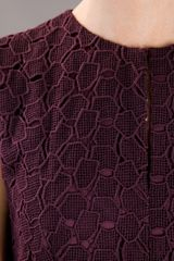 Diane Von Furstenberg Delian Lace Dress in Purple (aubergine) - Lyst