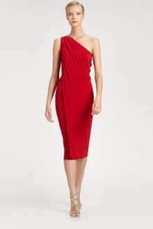 Donna Karan New York Asymmetrical Dress - Lyst