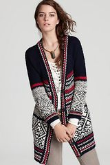 Free People Annabelle Fairisle Cardigan Sweater  - Lyst