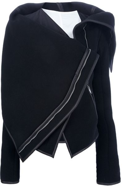 Gareth Pugh Asymmetric Flap Detail Jacket in Black - Lyst