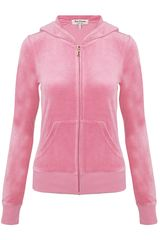 Juicy Couture Juicy Loves Couture Velour Tracksuit Top - Lyst