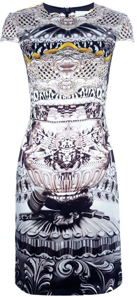 Mary Katrantzou Ebony Heavy Satin Dress - Lyst
