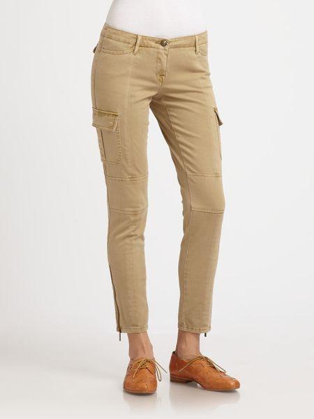Innovative NEW WOMENS LADIES SKINNY FIT CARGO JEANS KHAKI ZIP COMBAT QUILTED LOOK