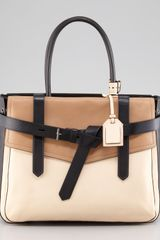 Reed Krakoff Boxer 1 Calfskin Tote Bag Natural/black - Lyst
