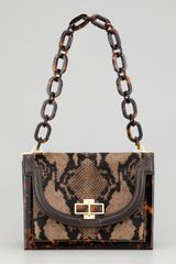 Tory Burch Snakeprinted Calf Hair Small Shoulder Bag - Lyst