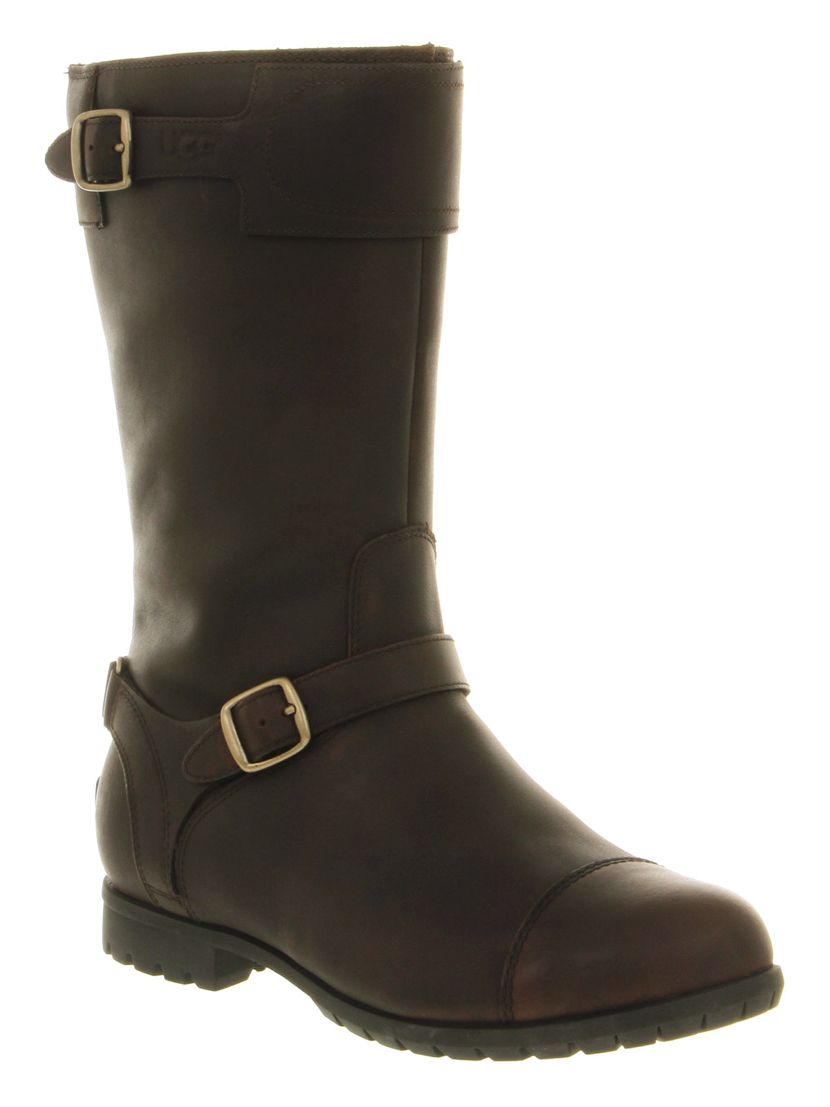 ugg gershwin classic calf boot in brown chocolate lyst