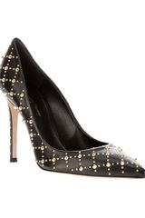 Gianvito Rossi Studded Pump in Black - Lyst