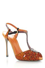 Sergio Rossi Ss Paprika Murmask Evening Sandal in Orange (paprika) - Lyst