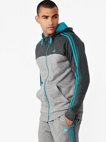 Adidas Adidas 3s Essentials Mens Enhanced Zip Through Hoody - Lyst