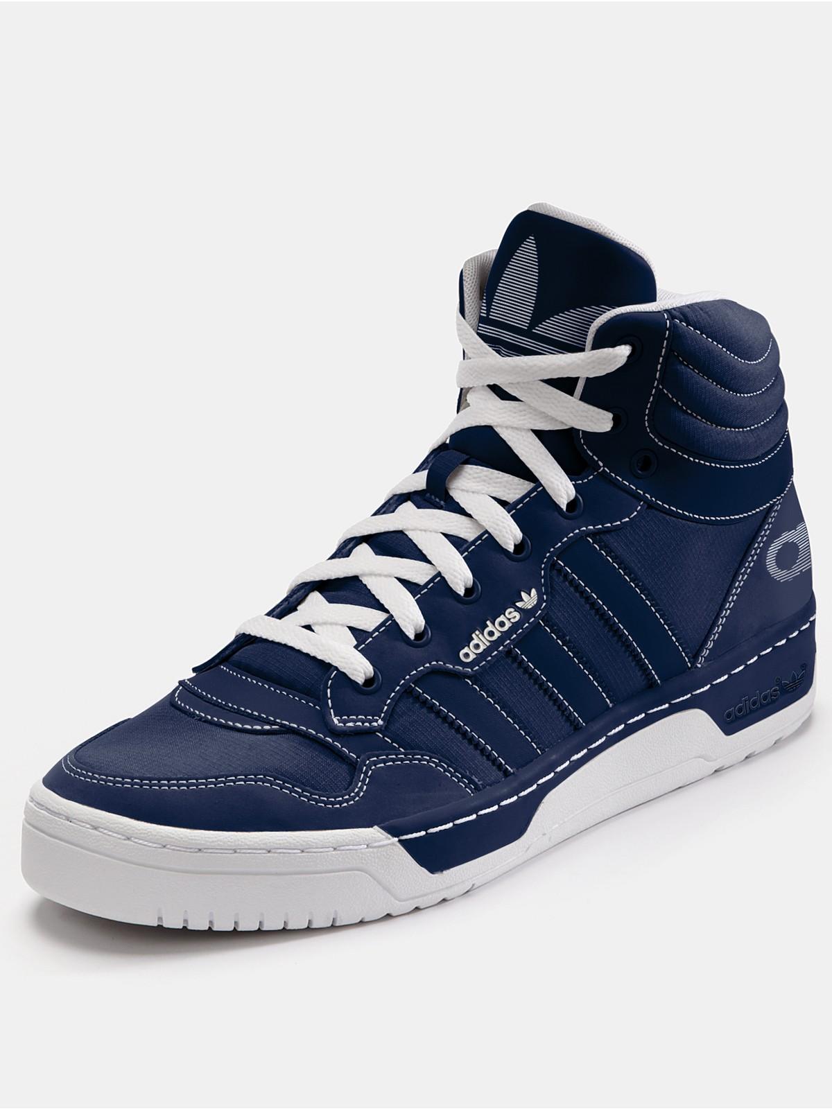 Adidas Top Ten Hi Blue Leather Sneakers In Blue For Men: Adidas Adidas Originals Irvington Mens Hi Top Trainers In