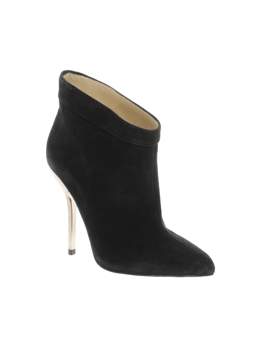aldo dilger pin heel shoe boots in black lyst