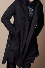 Burberry Brit Midlength Wool Gabardine Trench Coat - Lyst