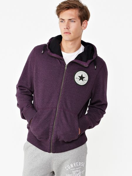 Converse Converse Procession Mens Zip Through Hoodie in Purple for Men