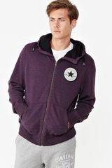 Converse Converse Procession Mens Zip Through Hoodie in Purple for Men - Lyst