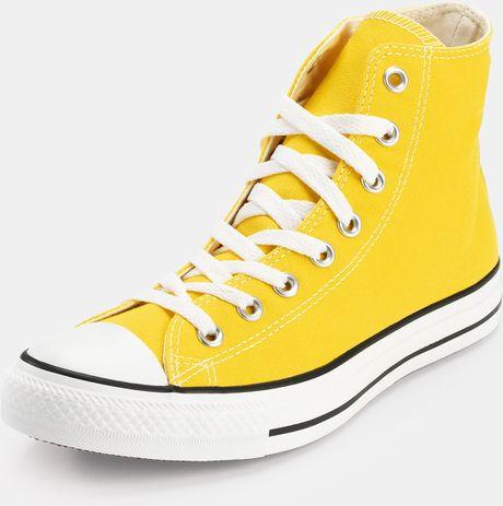 Converse All Stars Hi In Yellow Lyst