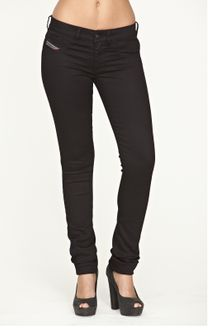 Diesel Diesel Livier Super Slim Jeggings Black - Lyst