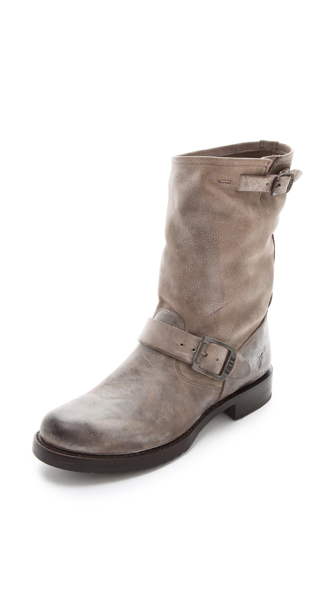 Frye Veronica Short Boots Black In Gray Lyst