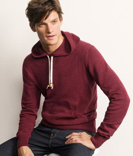 H&m Hooded Jumper in Red