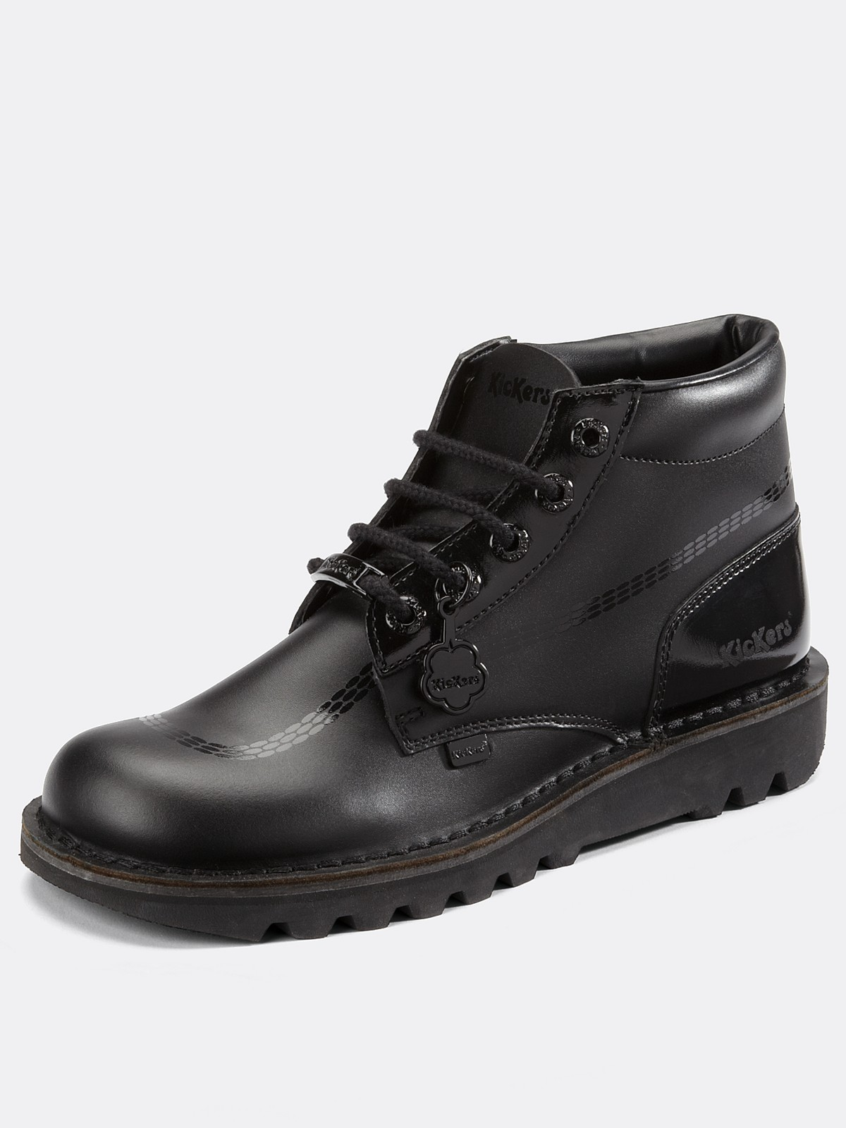kickers kickers kick shade boots in black for lyst