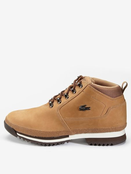 lacoste upton mens nubuck boots in beige for lyst