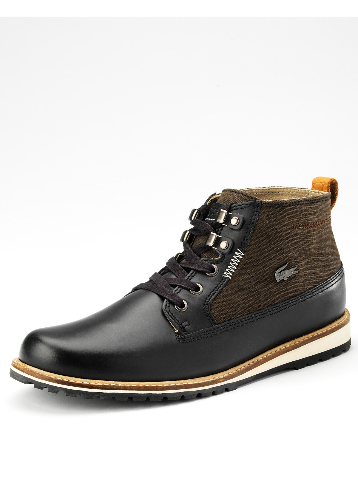 lacoste delevan mens boots in brown for black brown