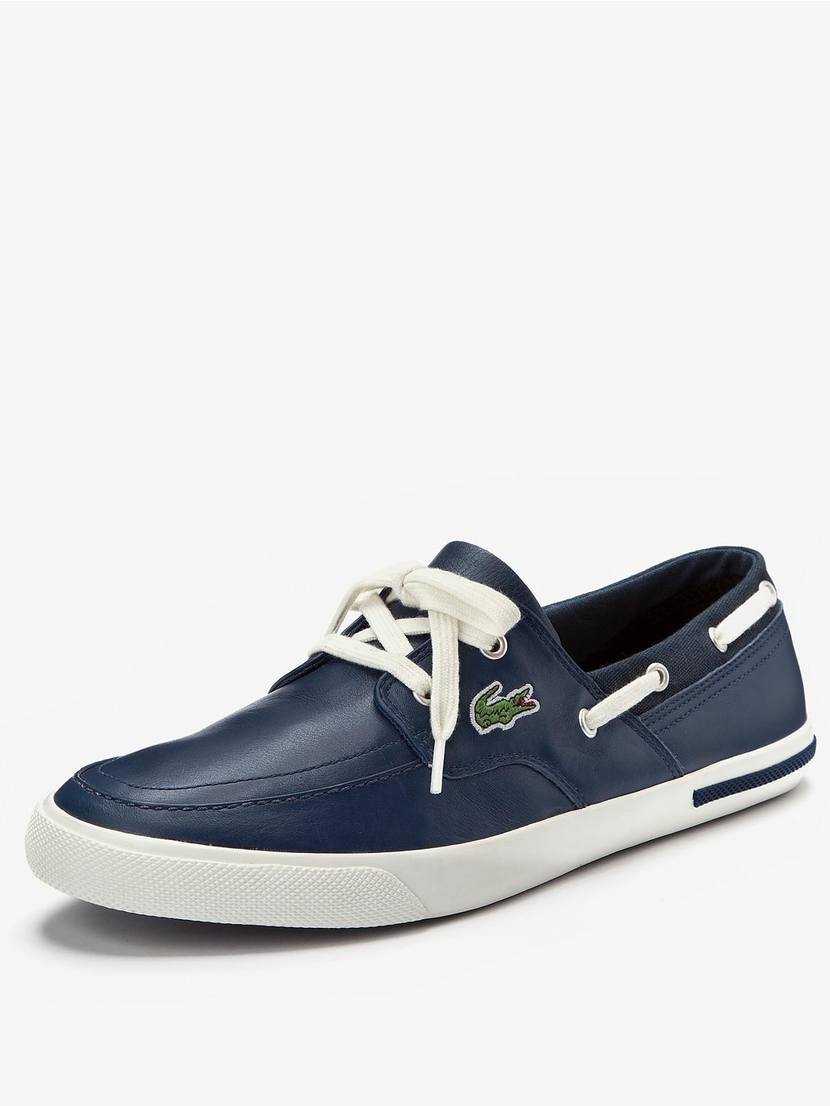 Lacoste Mens Newton Boat Shoes in Blue for Men (dark_blue ...