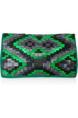 Matthew Williamson Bead-Embellished Suede Clutch - Lyst