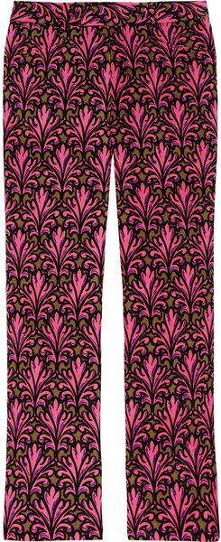Miu Miu Printed Mohair and Woolblend Flared Pants - Lyst
