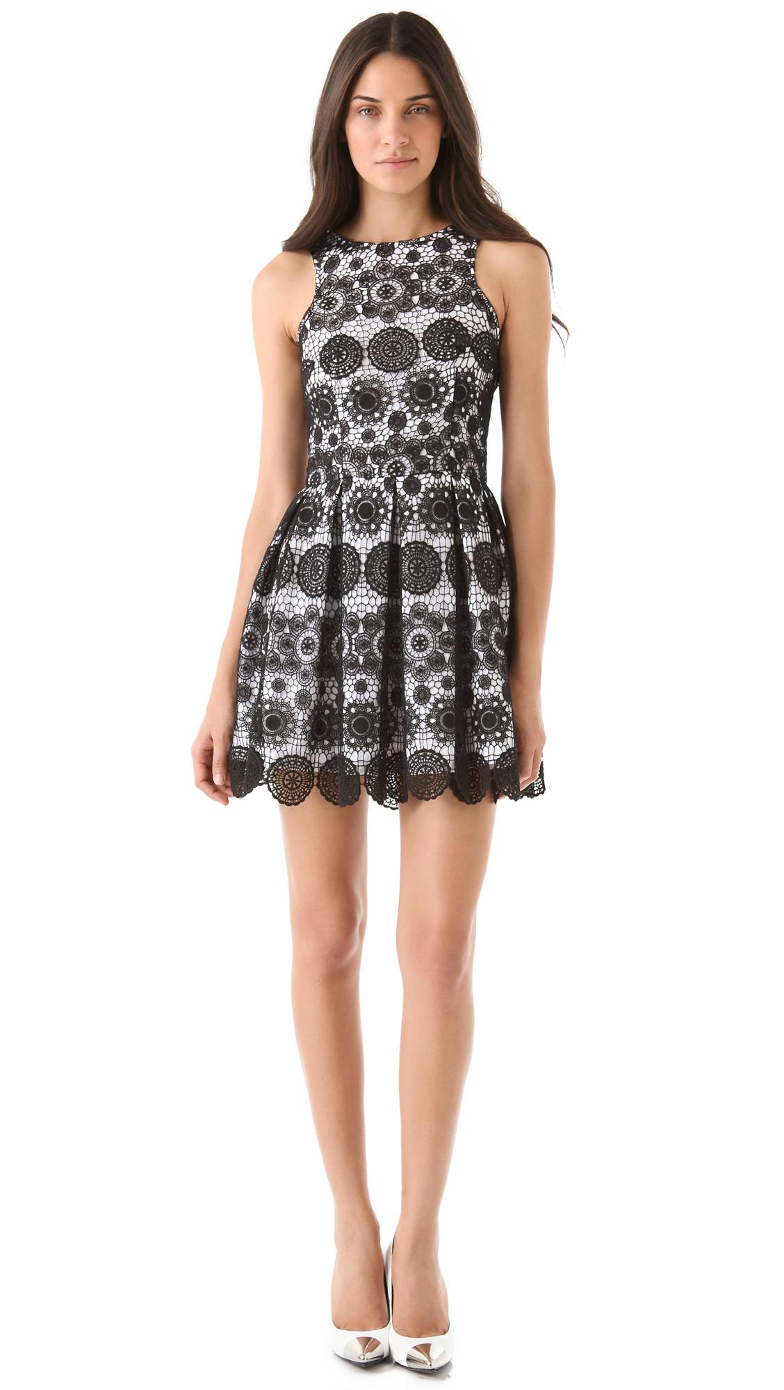 Nicholas Crochet Lace Racer Dress In Black Lyst