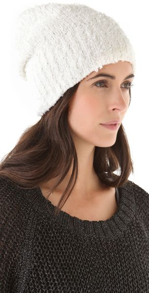 Rag & Bone Christina Beanie in White